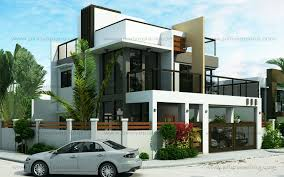 modern two story house plans ester four bedroom two story modern house design eplans