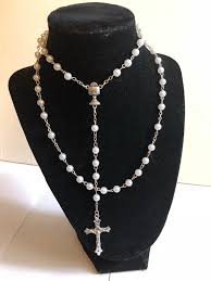 my rosary white sacramental rosary with my rosary box allen s online warehouse
