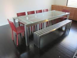 metal dining bench treenovation