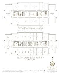 trump international hotel las vegas floor plan view floorplan