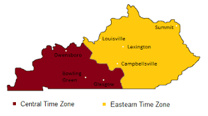 usa time zone map est kentucky time zones map timebie