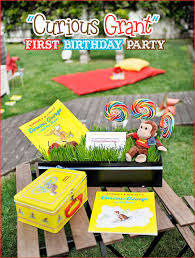 curious george birthday party ideas real a curious george inspired birthday party for grant