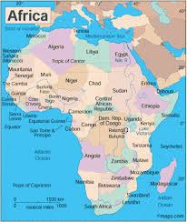 africa map deserts geography