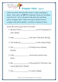 grade 3 grammar topic 39 irregular verbs worksheets lets share