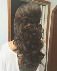 special occasion hairstyle romantic half up half down