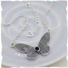Meaningful Butterfly - silver butterfly fingerprint jewellery and meaningful