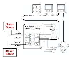 Patch Panel Wiring Diagram Interfacing To Old Autohelm Raymarine Seatalk Systems Sonar Server