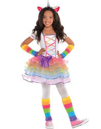 Boys Halloween Costumes Party Girls Rainbow Unicorn Costume Party
