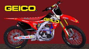 honda motocross bike cutout team honda geico bike m121c mx simulator