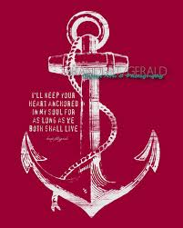 Love Anchors The Soul 8x10 - anchored in happily ever after wedding ideas pinterest etsy