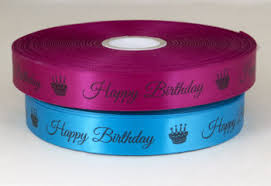 happy birthday ribbon pre printed ribbon designs ideal for gift wrap shop