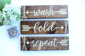 Laundry Room Signs Decor Laundry Room Decor Laundry Room Sign Wash Fold Repeat