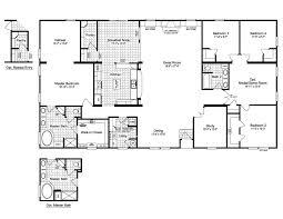 bedroom triple wide mobile homes double five plan home floor 4 5
