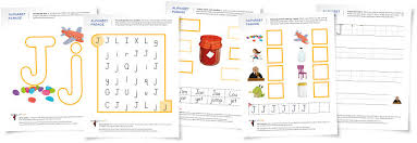 alphabet parade letter j worksheets and activity suggestions
