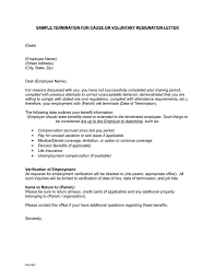 Sample Of Resignation Letters From Jobs Termination Letter Templates 26 Free Samples Examples Formats
