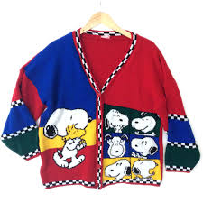 snoopy s selfies peanuts vintage 80s tacky sweater the