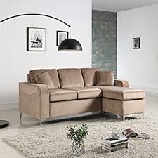 modern furniture small spaces amazon com modern bonded leather sectional sofa small space