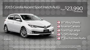 toyota corolla ascent sport price 2015 plate clearance corolla ascent sport auto hatch