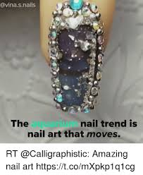 Nail Art Meme - the aquarium nail art that moves nail trend is rt amazing nail art