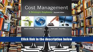 read online cost management a strategic emphasis edward blocher