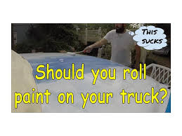 should you paint your vehicle by rolling on rustoleum youtube