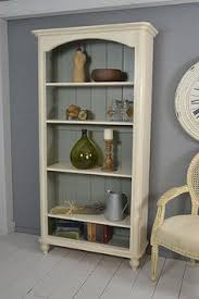 White Shabby Chic Bookcase Shabby Chic Pine Bookcase With Bun Feet Artwork White Wash