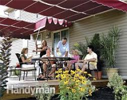 Sun Awnings For Decks How To Shade Your Deck Or Patio Family Handyman
