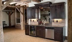 bar vintage basements kitchens decor ideas showing black kitchen