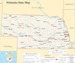 Nebraska State Map 29 Lastest United States Map Nebraska Afputra Com
