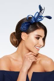feather headband navy bow feather headband fascinator quiz clothing
