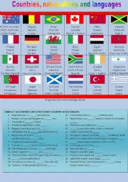 countries nationalities and languages