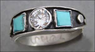 turquoise wedding rings silver and turquoise wedding bands tbrb info tbrb info