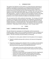 sample statement of work template 13 free documents download in