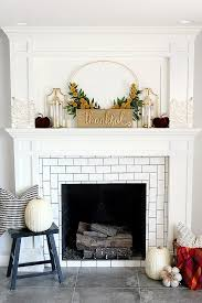 eye 10 ways to style your mantel for thanksgiving curbly