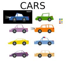 pixel car top view car clipart