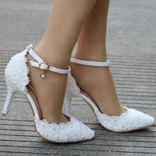white lace wedding shoes white lace wedding shoes heels thin heels pointed toe high