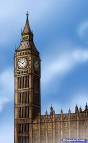 how to draw big ben step by step famous places landmarks