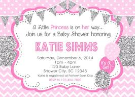 pink and silver baby shower baby shower invitations silver pink baby shower