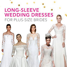 plus size wedding dresses with long sleeves brides