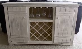 White Buffet Hutch Dining Buffet Weathered Buffet And Antique Mirror Give The Cozy