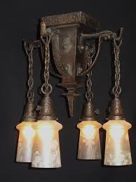Arts Crafts Lighting Fixtures Hammered Arts Crafts Lighting Fixture Antique Lighting For