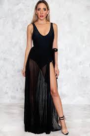 black maxi skirt with slit slit pleated skirt only 1 m left haute rebellious