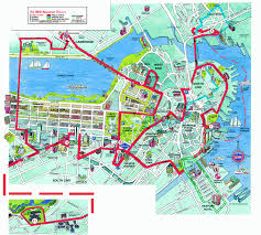 Back Bay Boston Map by Boston Map Travel Map Vacations Travelsfinders Com