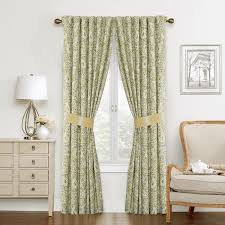 Waverly Curtain Panels Waverly Paisley Cotton Verveine Window Curtain Panel Pair Free