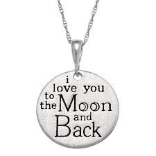 engravable necklace personalized sterling silver i you to the moon back