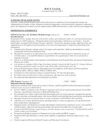 Benefits Manager Resume Cover Letter Sample Administrative Management Resume Sample