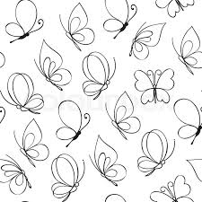 simple butterfly pattern vector illustration stock