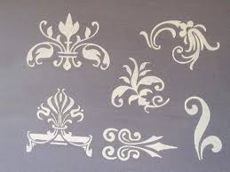 raised plaster small designs 2 stencil set furniture stencil from