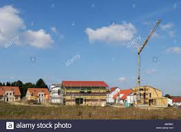 development area different houses in different stages of