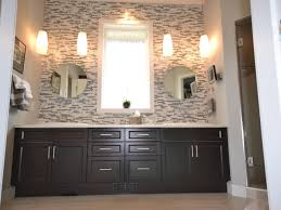 Wall Backsplash Bathroom Neutral Contrast Bathroom Mosaic Accent Wall Splashy